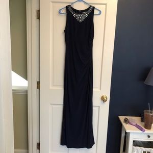 Navy Eliza J maxi dress